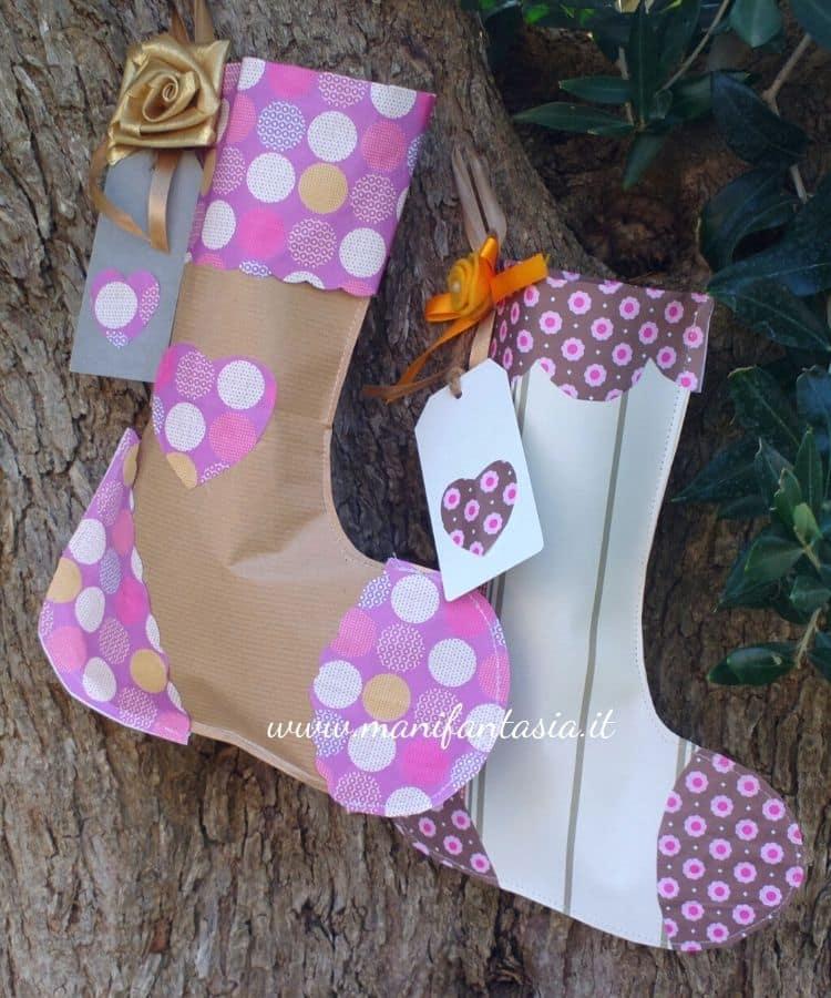 calze della befana di carta riciclata