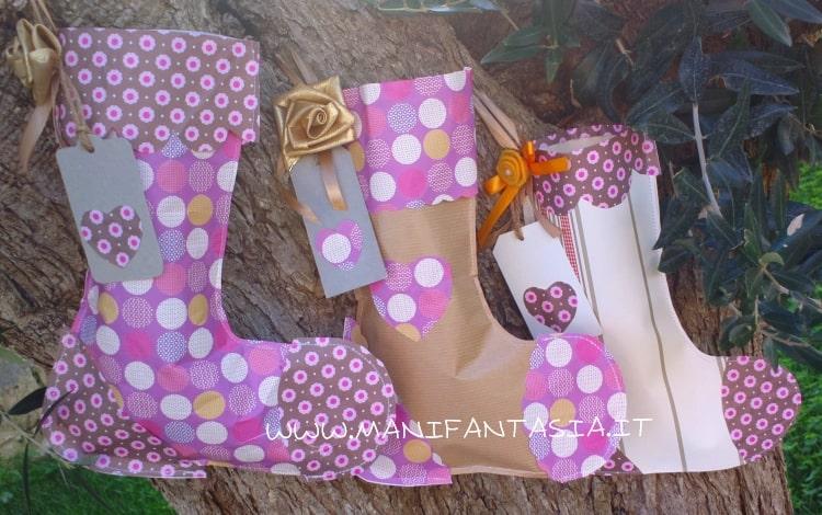 calze della befana fai da te carta da regalo