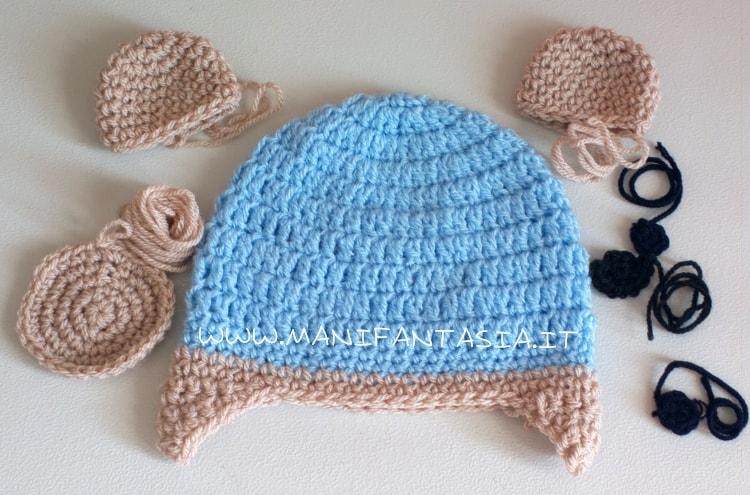 cappellino uncinetto orsetto schema