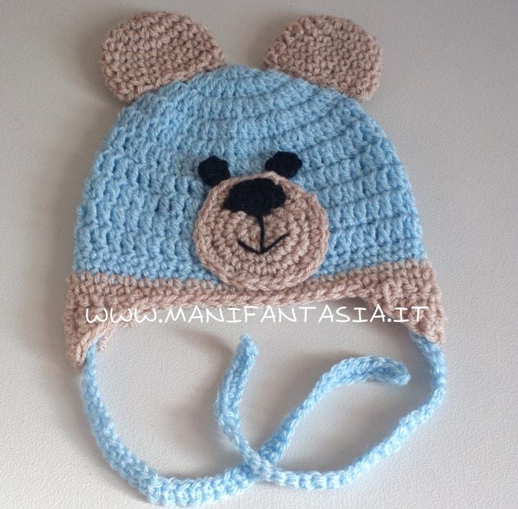 cappellino uncinetto orsetto tutorial