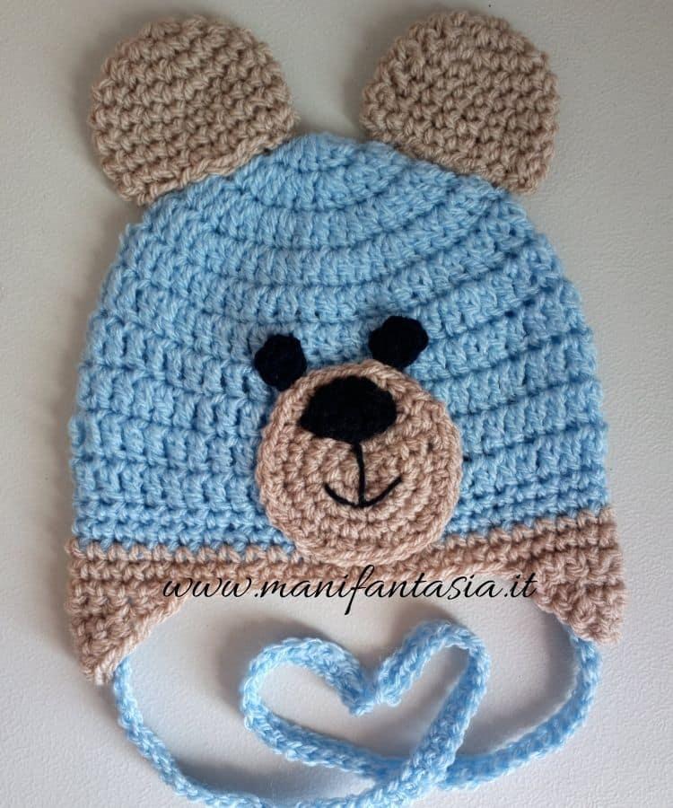 cappellino uncinetto orsetto