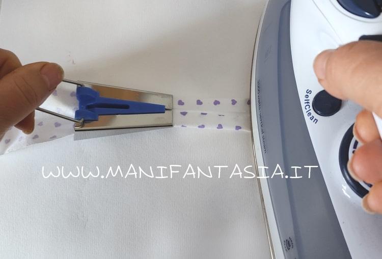 come stirare lo sbieco doppio con gli sbiecatori manuali