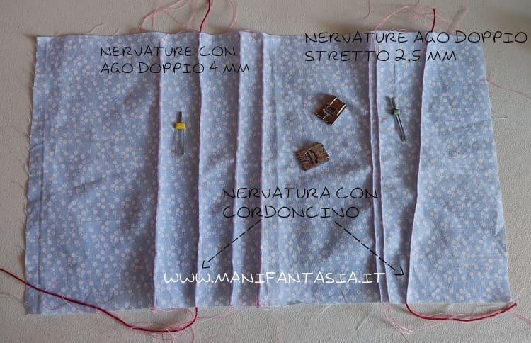 piedini per nervature con aghi gemelli di varie misure