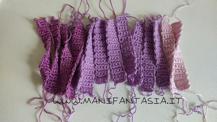 realizzare le fascette dei manici a maglia bassa
