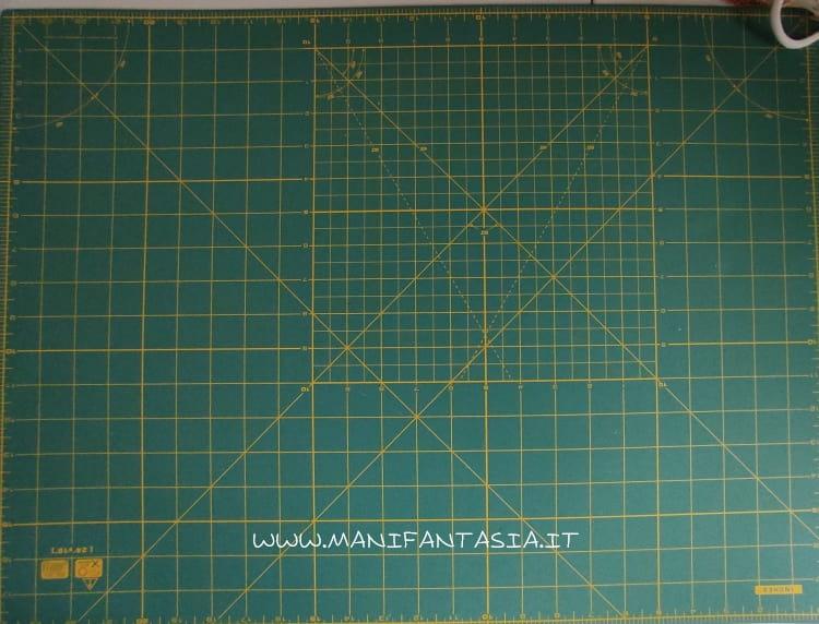 tappetino da taglio per cucito in pollici