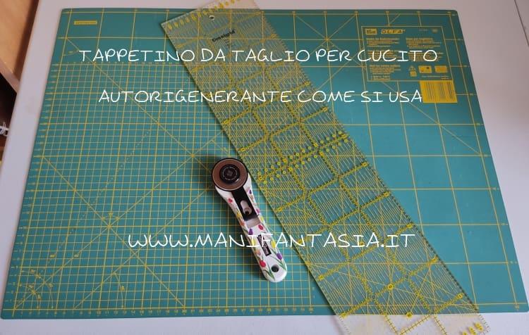 tappetino da taglio per cucito