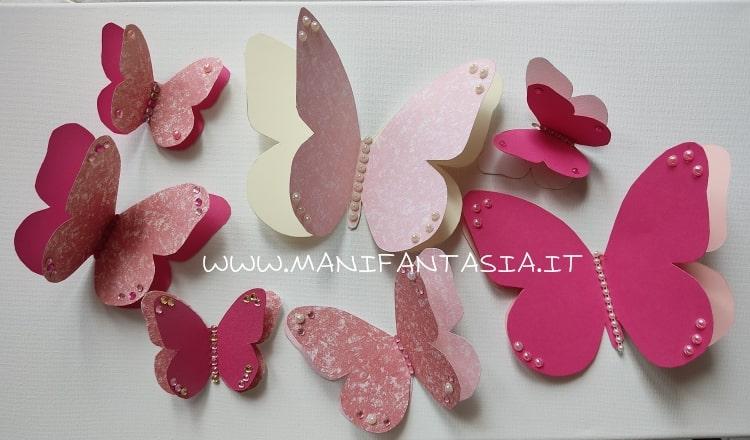 come fare farfalle di carta e cartoncino tutorial