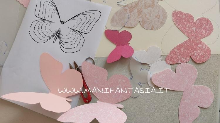 come fare le farfalle di carta