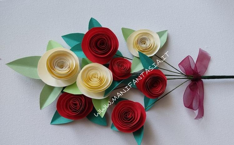 come fare le rose di carta per la festa della mamma