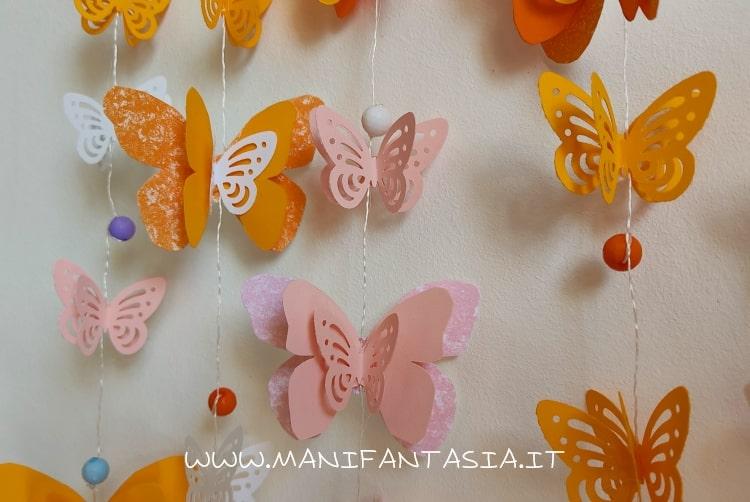 farfalle di carta da appendere idee