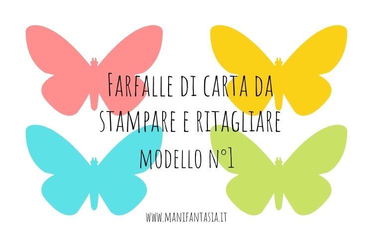 farfalle di carta da stampare modello 1