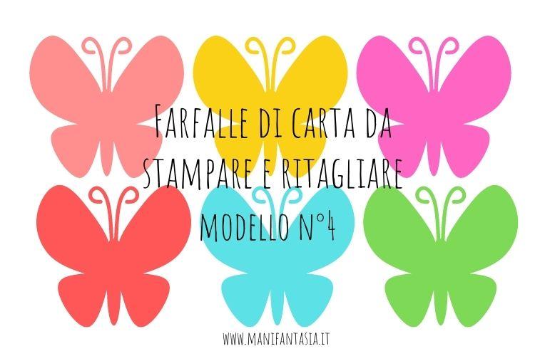 farfalle di carta da stampare modello 4