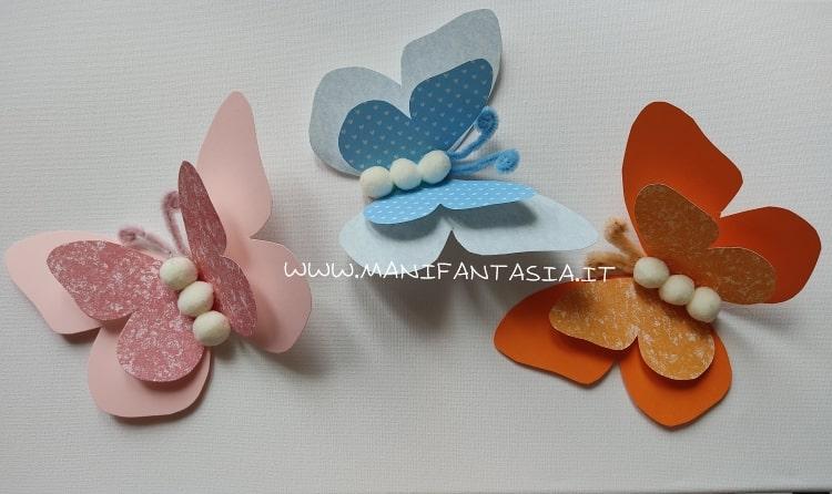 farfalle di cartoncino
