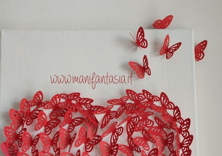 farfalle, carta, tridimensionali, festa della mamma
