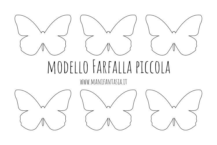modello farfalla piccola da stampare