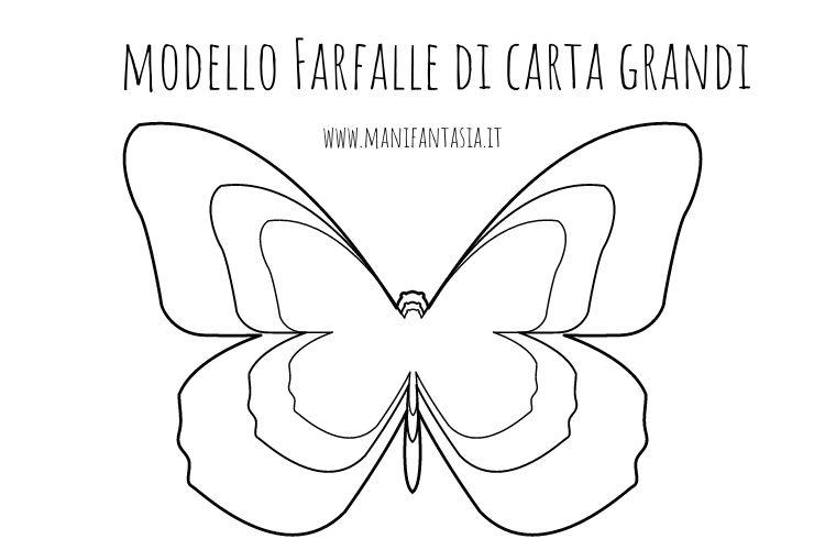 modello farfalle grandi-medie-piccole da stampare