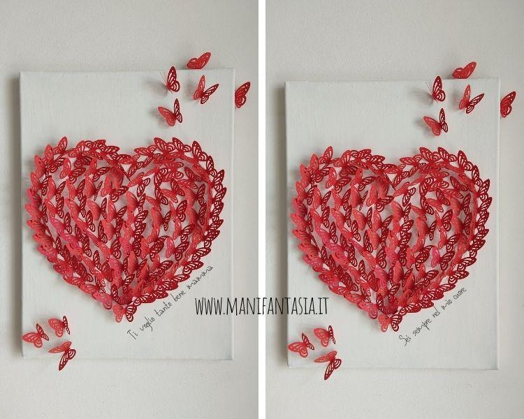 quadro con farfalle di carta 3d fai da te