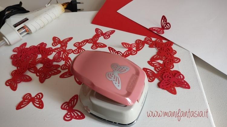 quadro con farfalle di carta 3d occorrente