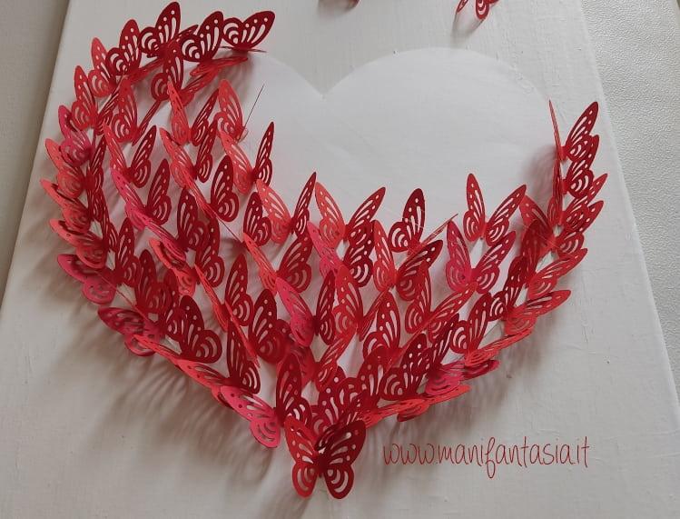 realizzare un quadro con farfalle di carta