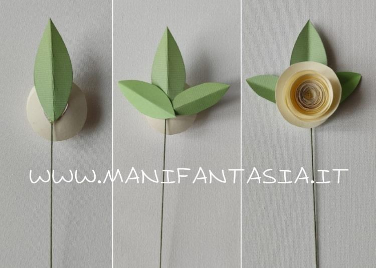rose di carta-festa della mamma-foglie