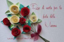 rose di carta per la festa della mamma