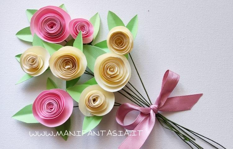 rose di carta per la festa della mamma tutorial