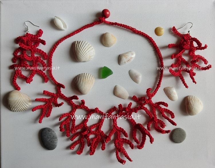 collana corallo ad uncinetto facile