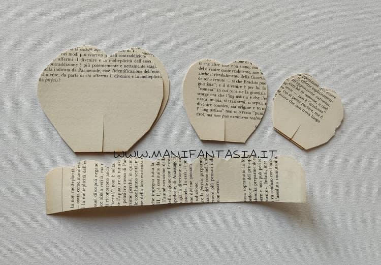 come fare rose con carta di vecchio libro petali