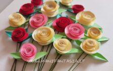 come fare rose di carta a spirale