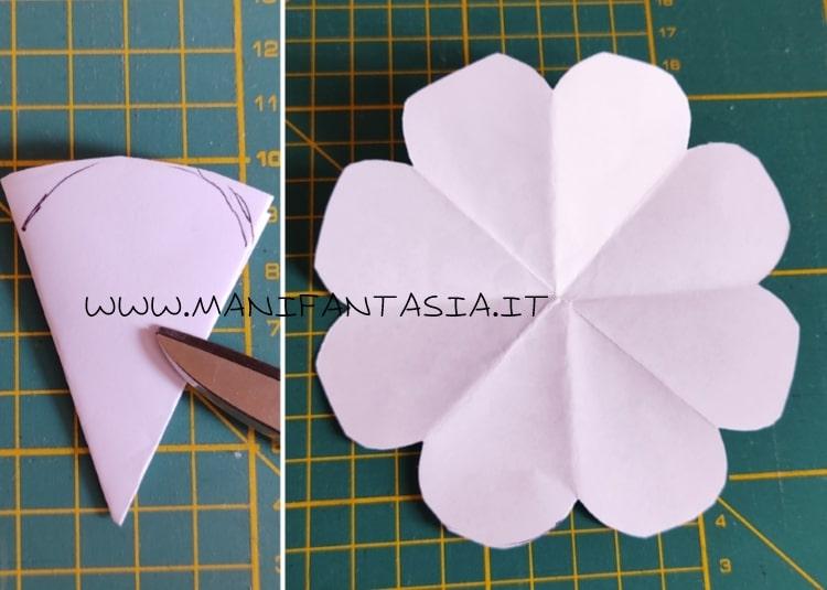 modello di carta per rosa