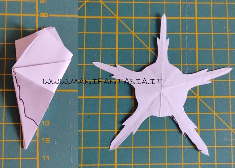 modello sepali di rosa 5 petali