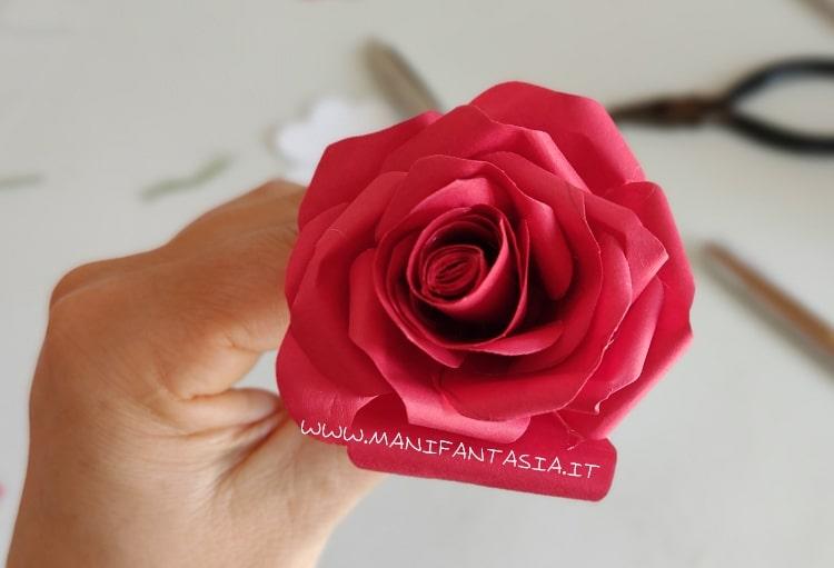 rosa di carta terminata
