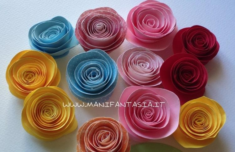 rose di carta a spirale facili e veloci
