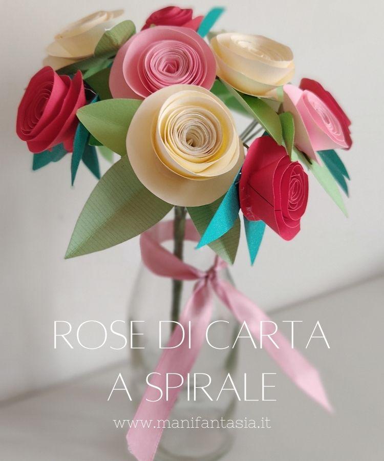 rose di carta a spirale