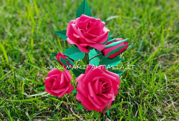 rose di carta fai da te