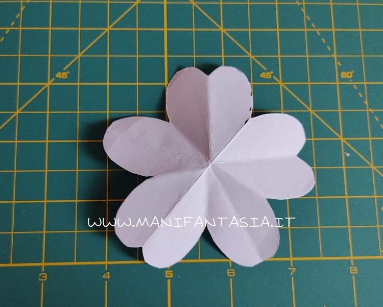 sagoma fiore di carta modello base 5 petali