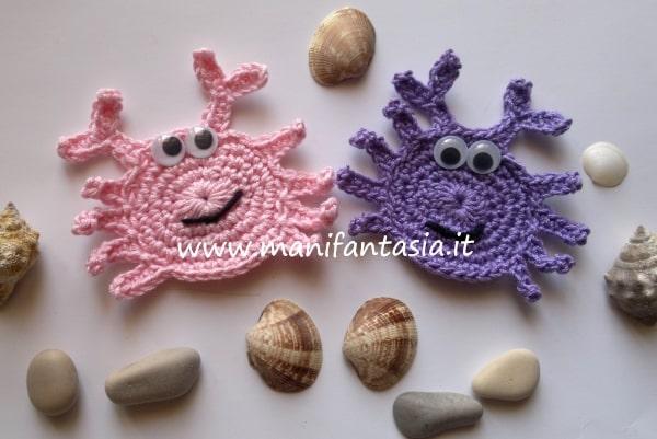 animali marini uncinetto i granchi