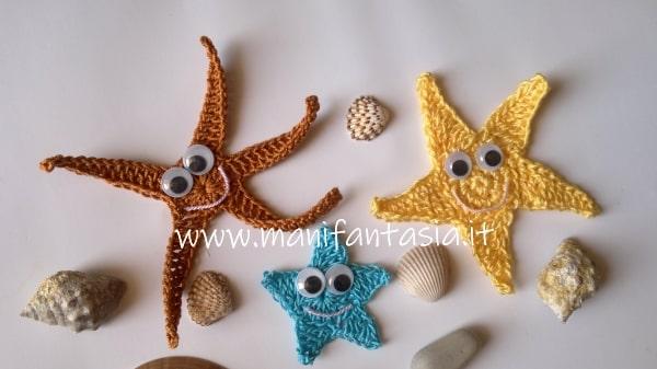 animali marini uncinetto le stelle marine