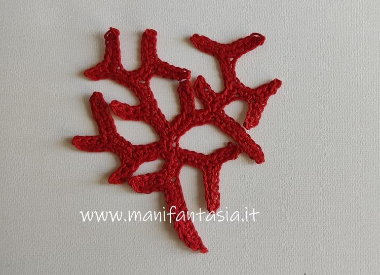 soggetti marini uncinetto il corallo