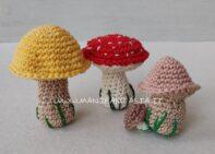 funghi uncinetto amigurumi