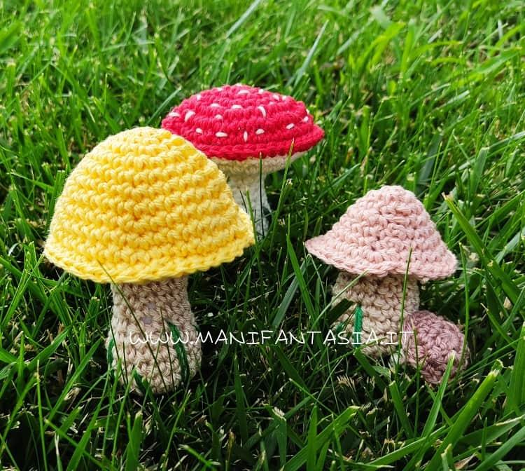 funghi uncinetto schemi e spiegazioni