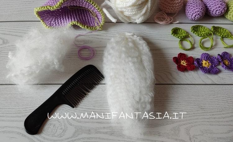 gnomo uncinetto primavera barba di lana