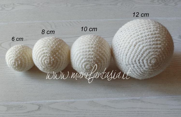 Come rivestire le palline di polistirolo ad uncinetto schemi