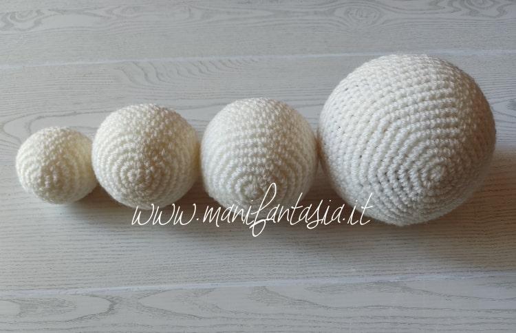 Come rivestire le palline di polistirolo ad uncinetto
