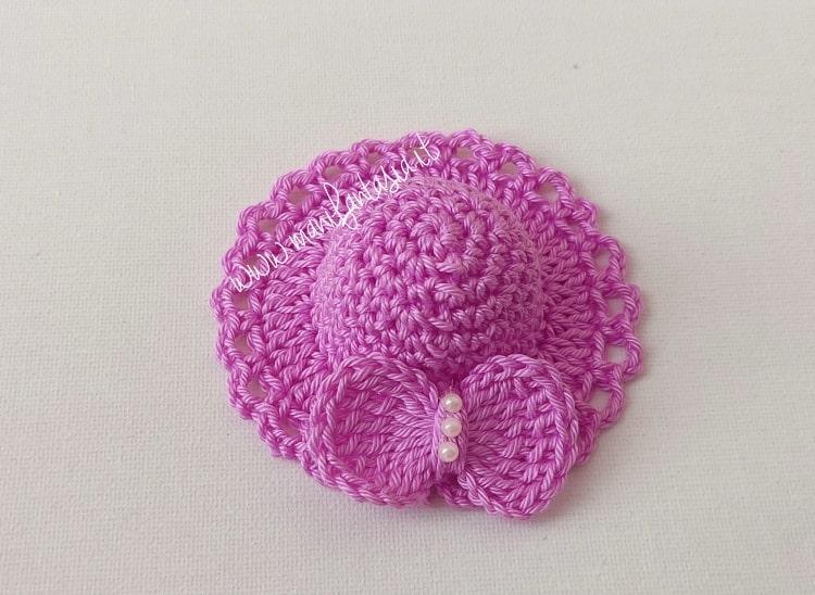 cappellini bomboniera semplici a uncinetto schema