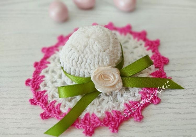 decorare un cappellino bomboniera