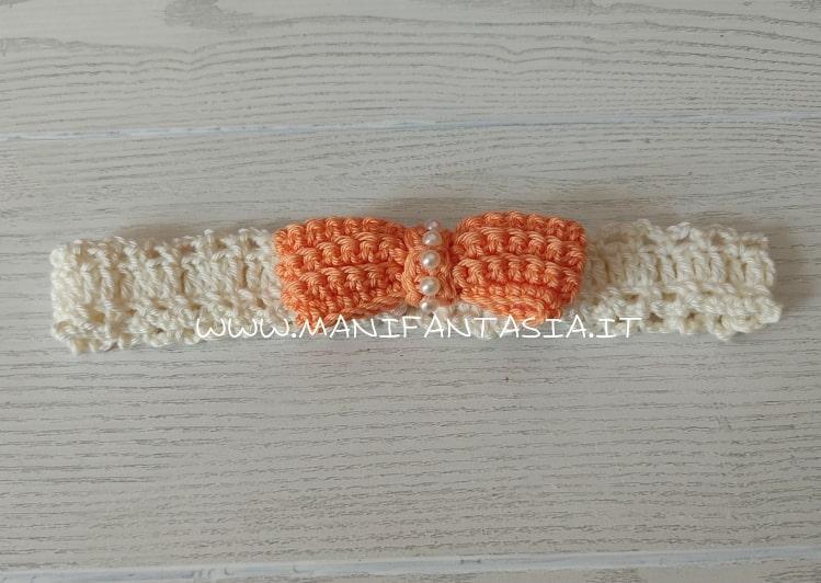 fascia per capelli bimbe e neonate uncinetto