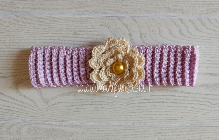 fascia per neonata uncinetto schema