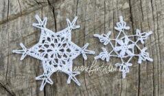 fiocchi di neve ad uncinetto piccoli e facili