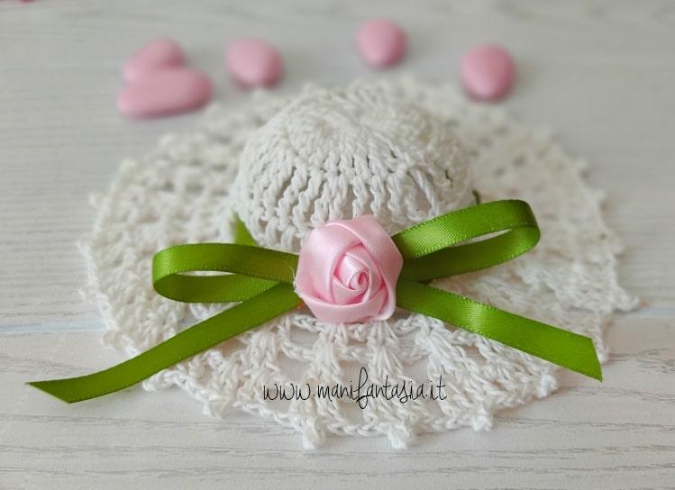 indurire e confezionare cappellino bomboniera
